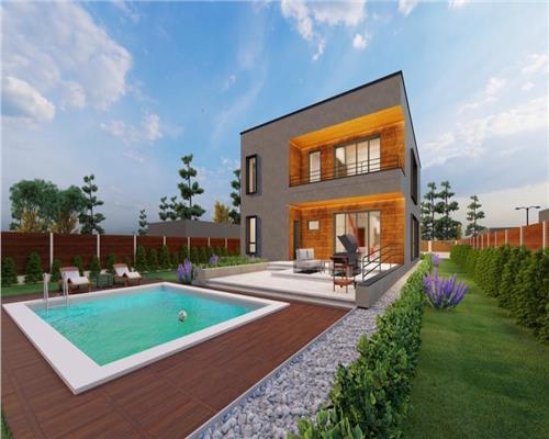Vila moderna cu piscina.